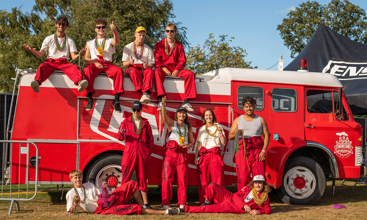 ensoc members in front of a firetruck