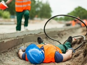 Worker Unconscious Laying in Trench