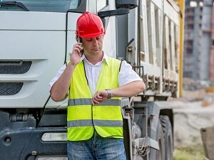 Worker Reporting Injury by Mobile Phone