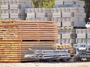 Stacked Materials at Job Site