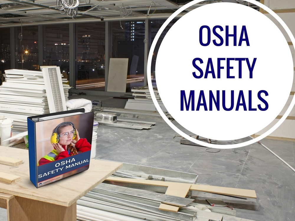 Area Under Construction with Safety Manual Binder on Work Bench