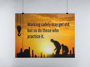 Hanging Safety Poster