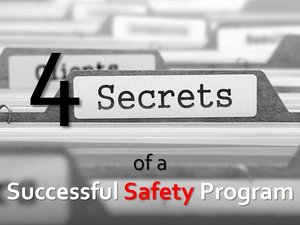 File Folder Labels that Says 4 Secrets of a Successful Safety Program