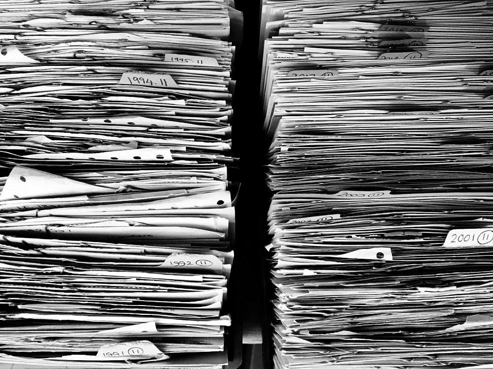 Papers Crammed Into File Folders