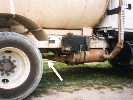 Close-up View of Large Water Truck