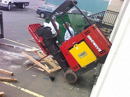 Forklift Fell Off Loading Dock