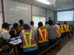 Workers in Safety Training Class