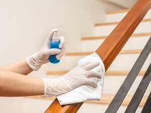 Cleaning Stair Rails