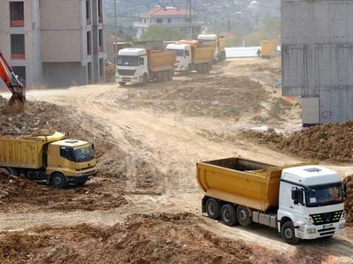 Big Trucks on Construction Site