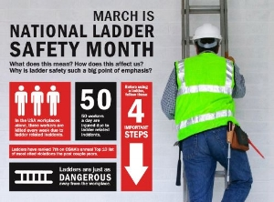 Ladder Safety Month Infographic