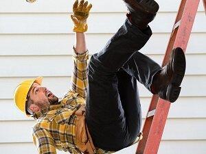 Construction Worker Falling Off Ladder
