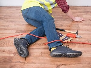 Worker Fell, Legs Twisted in Extension Cord