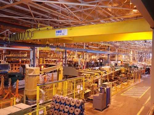 Overhead Crane in Industrial Environment