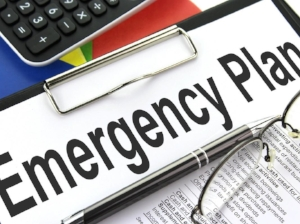 Clipboard with Emergency Plan