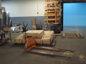 Pallet Jack Parked in Warehouse