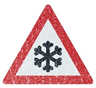 Winter, Cold Warning Sign