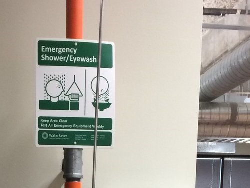 Emergency Shower/Eyewash Sign