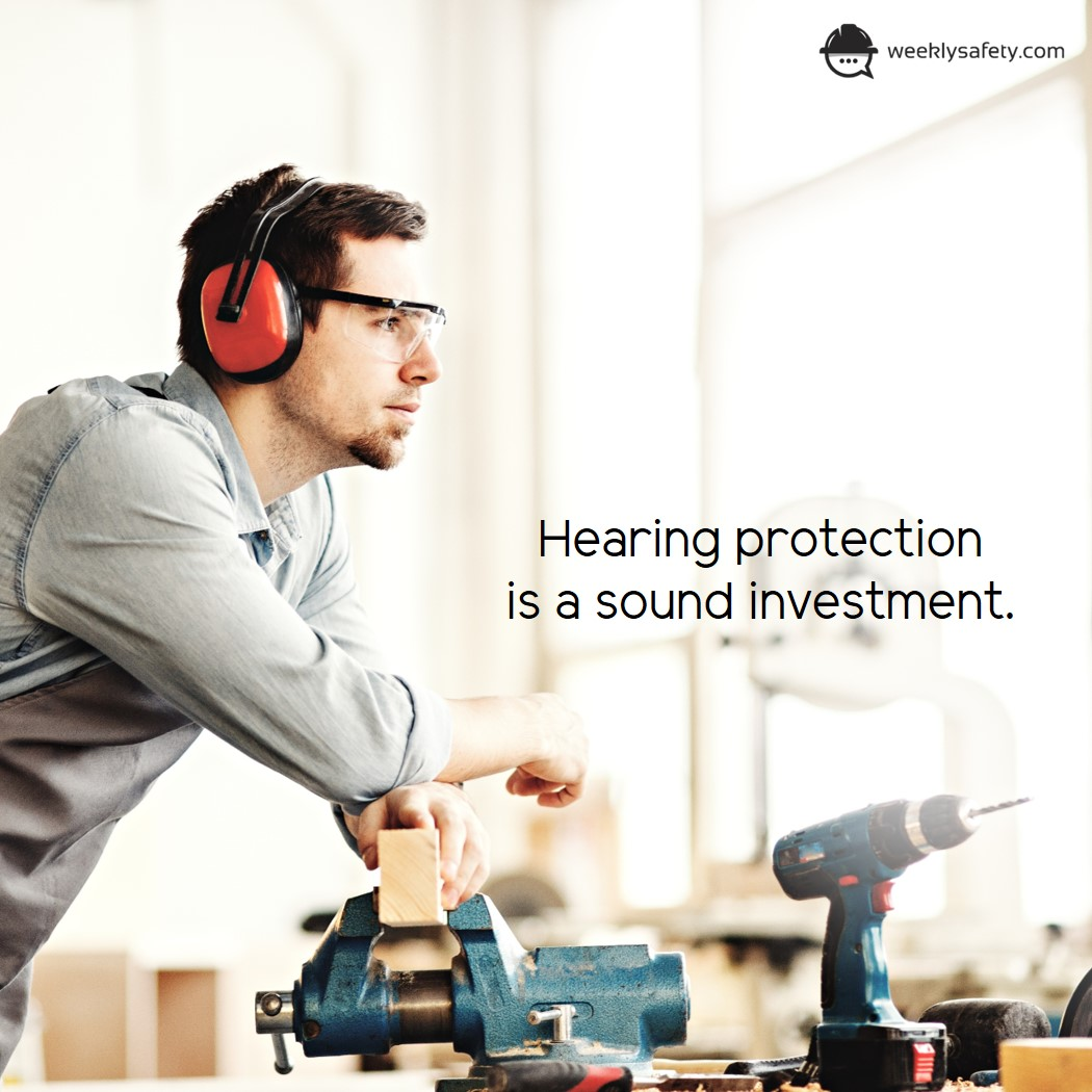 Shop worker, hearing protection, ear muffs, safety glasses