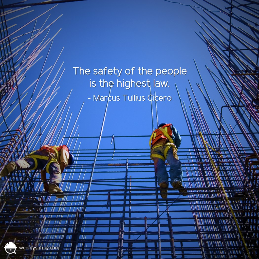 Construction workers, rebar, fall protection