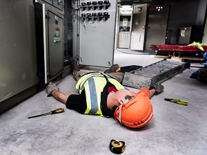 Electrical Worker Unconscious on Floor