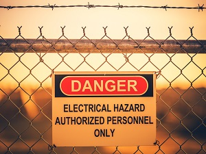 Electrical Hazard Danger Sign