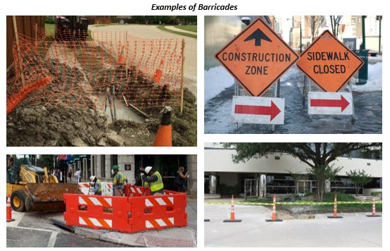 Examples of Barricades