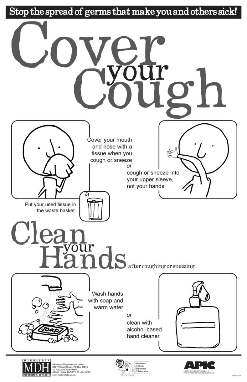 Cover Your Cough Infographic Poster