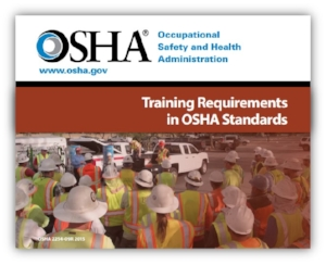 Training Requirements in OSHA Standards Brochure Cover