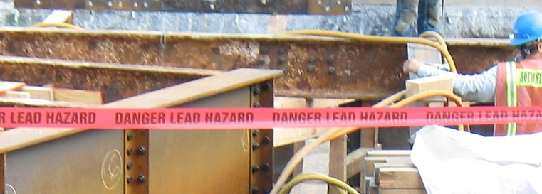 Lead contamination found at this heavy construction site.