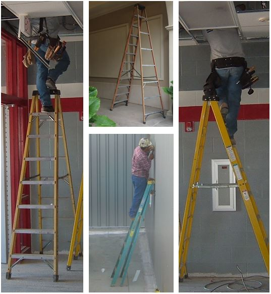 Examples of Step Ladder Hazards