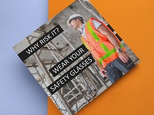 Safety Poster Reminds Employees to Wear Safety Glasses