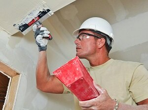 Painter Wearing Safety Glasses