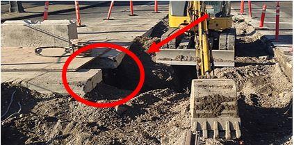 Excavation on Road Creates Surface Encumbrance