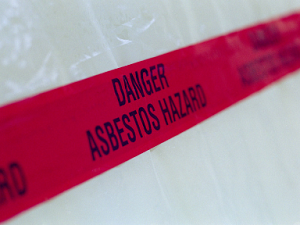 Danger Tape, Asbestos Hazard