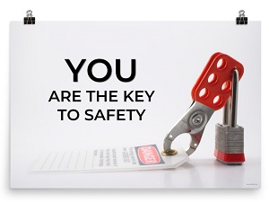 Lockout/Tagout Themed Safety Poster
