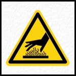 Hot Surface Warning Sign