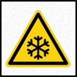 Extreme Cold Warning Sign