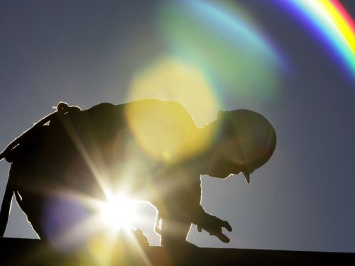 Outdoor Construction Worker, Working in the Sun