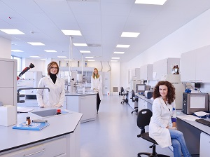 Workers in a Lab