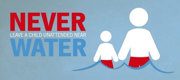 Graphic from State Farm, Never Leave a Child Unattended Near Water
