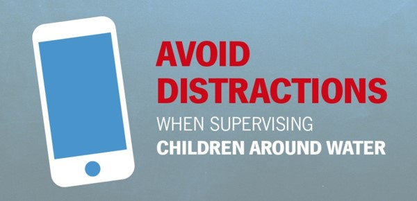Graphic from State Farm, Avoid Distractions When Supervising Children Around Water