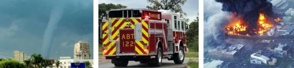 Emergencies, Tornado, Fire Truck, Huge Fire