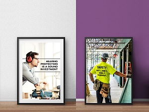 Two Framed Safety Posters