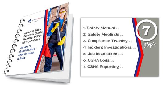 Spiral-bound Safety Survival Guide Book and Table of Contents Page
