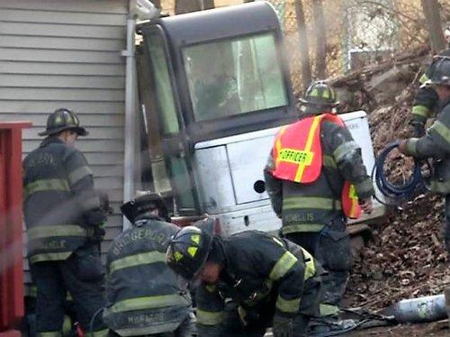 Scene at Excavator Accident