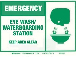 Emergency Eye Wash Station, Safety Instruction Sign