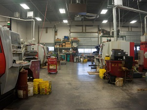 Machine Shop with Clear Aisles