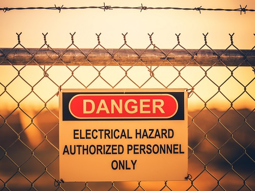 Electrical Hazards Danger Sign