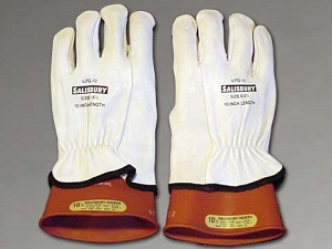 Gloves designed for electrical protection.
