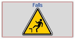 Fall Hazard Warning Sign